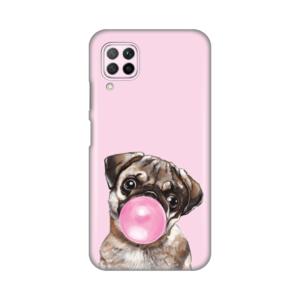 Maska Silikonska Print za Huawei P40 Lite/Nova 6 SE Pink Dog Bubble