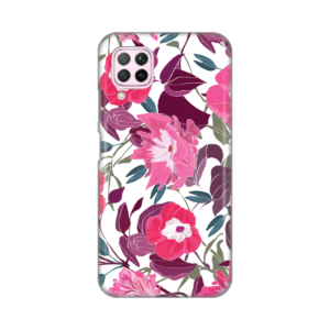 Maska Silikonska Print za Huawei P40 Lite/Nova 6 SE Pink Flowers