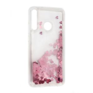 Maska Liquid Heart za Huawei P40 Lite E roze