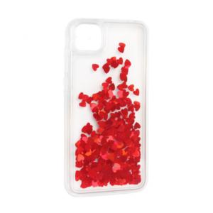 Maska Liquid Heart za Huawei Y5p/Honor 9S crvena