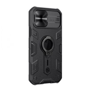 Maska Nillkin CamShield Armor za iPhone 12/12 Pro 6.1 crna (sa otvorom za logo)
