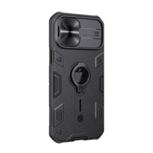 Maska Nillkin CamShield Armor za iPhone 12 Pro Max 6.7 crna (sa otvorom za logo)