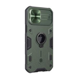 Maska Nillkin CamShield Armor za iPhone 12 Pro Max 6.7 zelena (sa otvorom za logo)