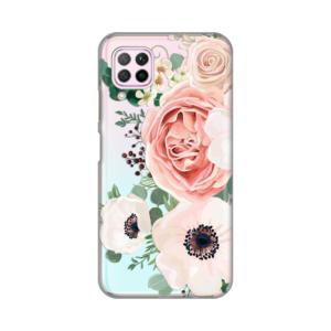 Maska Silikonska Print Skin za Huawei P40 Lite/Nova 6 SE Luxury Pink Flowers