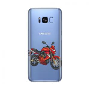 Maska Silikonska Print Skin Za Samsung G955 S8 Plus Cristal Case 1177 Red Motorcycle
