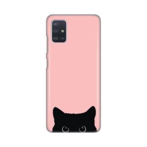 Maska Silikonska Print za Samsung A515F Galaxy A51 Peekaboo Cat