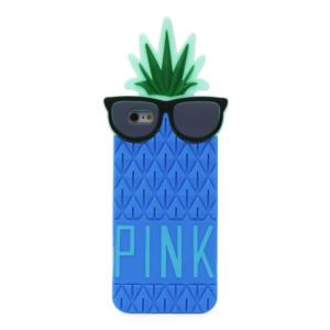 Maska silikonska Summer Pineapple za iPhone 6 plus/6S plus plava