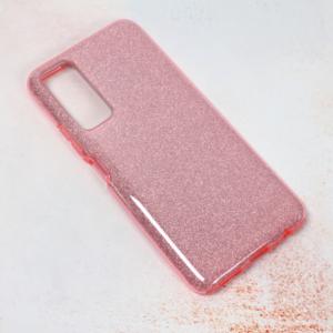 Maska Crystal Dust za Huawei P smart 2021 roze