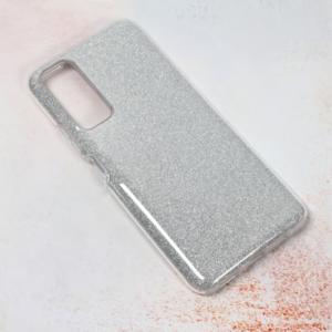 Maska Crystal Dust za Huawei P smart 2021 srebrna