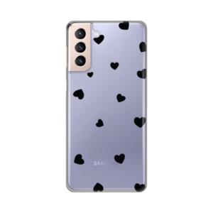 Maska Silikonska Print Skin za Samsung Galaxy S21 Plus Hearts