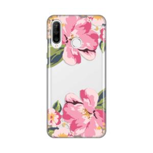 Maska Silikonska Print za Huawei P30 Lite Pink Flower