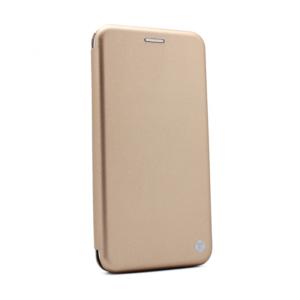 Maska Teracell Flip Cover za Motorola Moto E7 zlatna