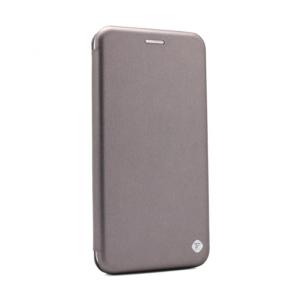 Maska Teracell Flip Cover za Motorola Moto G9 Plus srebrna
