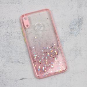 Maska Frame Glitter za Huawei Y6 2019/Honor 8A roze