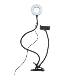 Drzac za mobilni telefon sa LED lampom 2u1