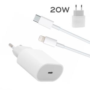 Kucni punjac PD Fast charger 20W 3A za iPhone 11/12 lightning beli HQ