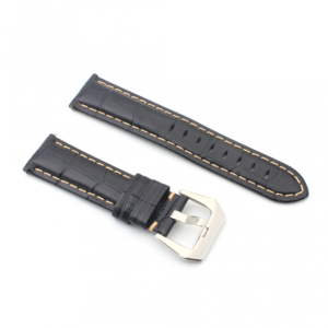 Narukvica elegant relief kozna za smart watch 22mm crna