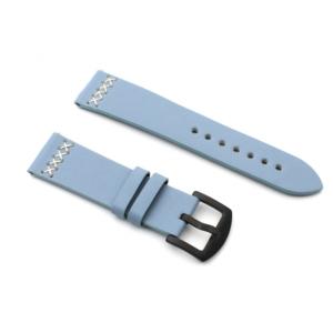 Narukvica thread kozna za smart watch 22mm svetlo plava