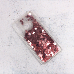 Maska Liquid Heart za Huawei P30 Lite roze