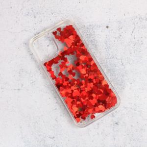 Maska Liquid Heart za iPhone 12 Mini 5.4 crvena