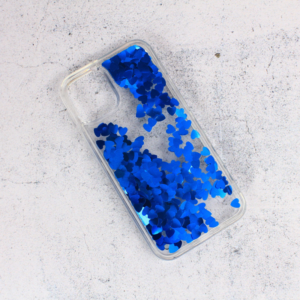Maska Liquid Heart za iPhone 12 Mini 5.4 plava