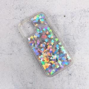 Maska Liquid Heart za iPhone 12 Mini 5.4 srebrna