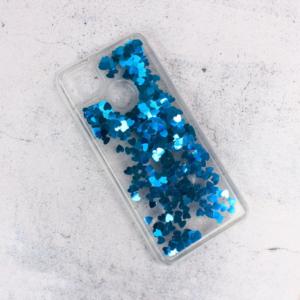 Maska Liquid Heart za Xiaomi Redmi 9C plava