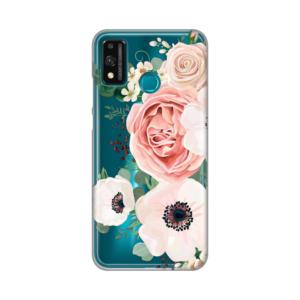 Maska Silikonska Print Skin za Huawei Honor 9X Lite Luxury Pink Flowers