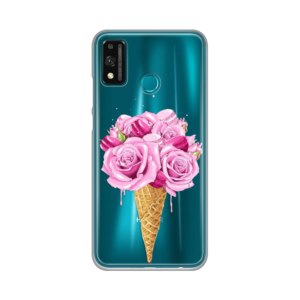 Maska Silikonska Print Skin za Huawei Honor 9X Lite Rose Cone