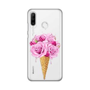 Maska Silikonska Print Skin za Huawei P30 Lite Rose Cone