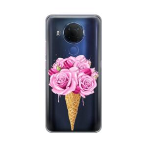 Maska Silikonska Print Skin za Nokia 5.4 Rose Cone