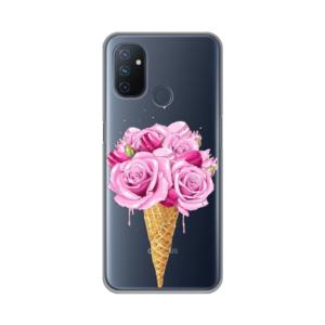 Maska Silikonska Print Skin za OnePlus Nord N100 Rose Cone