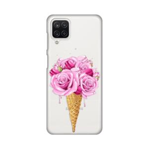 Maska Silikonska Print Skin za Samsung A125F Galaxy A12 Rose Cone