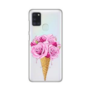 Maska Silikonska Print Skin za Samsung A217F Galaxy A21s Rose Cone