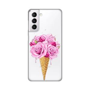 Maska Silikonska Print Skin za Samsung G980F Galaxy S21 Rose Cone