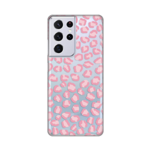 Maska Silikonska Print Skin za Samsung G991B Galaxy S21 Ultra Pink Cheetah
