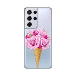 Maska Silikonska Print Skin za Samsung G991B Galaxy S21 Ultra Rose Cone