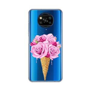 Maska Silikonska Print Skin za Xiaomi Poco X3 NFC Rose Cone