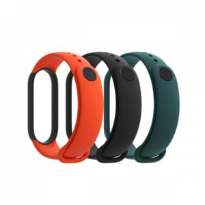 Xiaomi Mi Smart Band 5 narukvica (3 kom) crna/tamno zelena/narandzasta