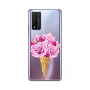 Maska Silikonska Print Skin za Huawei Honor 10X Lite Rose Cone