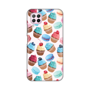 Maska Silikonska Print za Huawei P40 Lite/Nova 6 SE Fruity Cupcakes