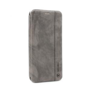 Maska Teracell Leather za Xiaomi Redmi Note 9T/Note 9 4G/9 Power siva