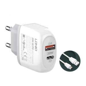 Kucni punjac LDNIO A2316C PD Quick Charge 3.0 sa micro USB kablom