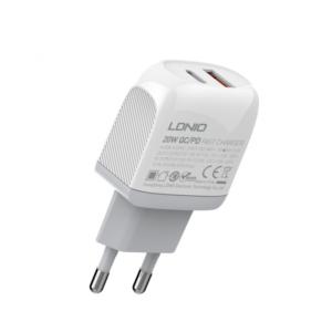 Kucni punjac LDNIO A2316C PD Quick Charge 3.0 sa Type C na Iphone lightning kablom