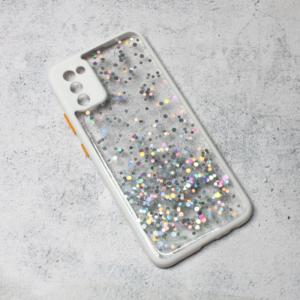 Maska Frame Glitter za Samsung A025G Galaxy A02s bela