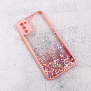 Maska Frame Glitter za Samsung A025G Galaxy A02s (EU) roze