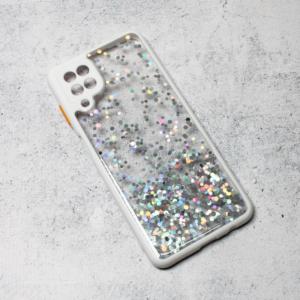 Maska Frame Glitter za Samsung A125F Galaxy A12 bela