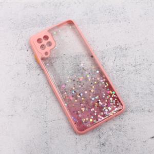 Maska Frame Glitter za Samsung A125F Galaxy A12 roze