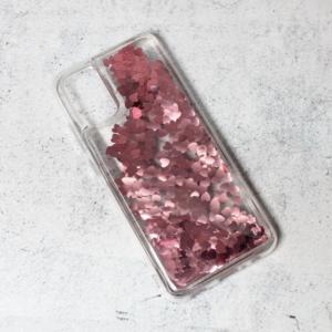Maska Liquid Heart za Samsung A025G Galaxy A02s (EU) roze