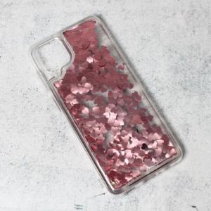 Maska Liquid Heart za Samsung A125F Galaxy A12 roze